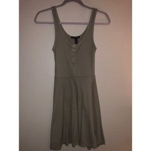 Forever 21 Olive Green Skater Tank Top Dress